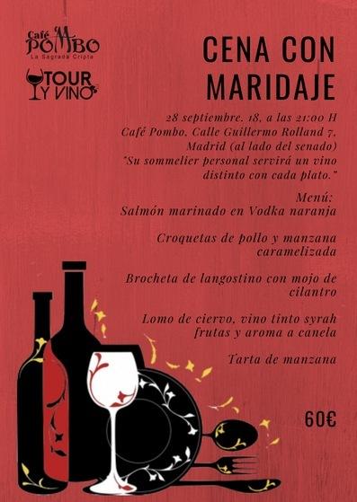 Cena con maridaje en Café Pombo @ Café Pombo | Madrid | Comunidad de Madrid | España